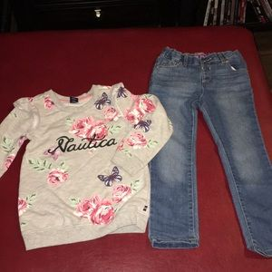 Girls size 5 /5T outfit Children's place & Nautica